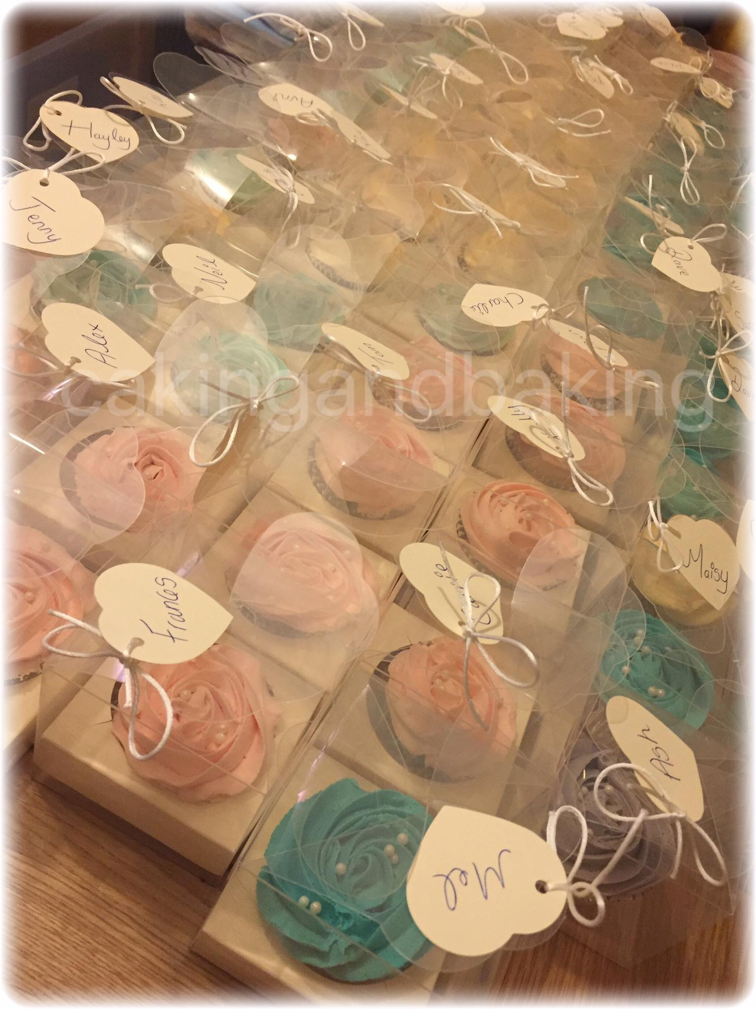 Wedding Favor Boxed Cupcakes