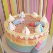 Rainbow make up cake