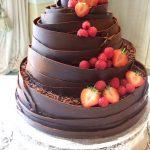 Dark Wrap Wedding Cake