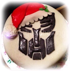 Transformers Christmas Cake