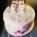 Baby Shower Bootie Cake