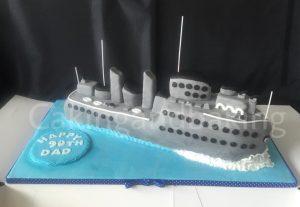 Huge Battleship Cake