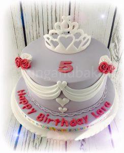 Princess Tiara Swags Cake
