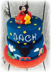 Mickey Mouse Club House & Car Cake