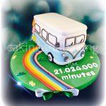 VW Camper Van Ruby Anniversary Cake
