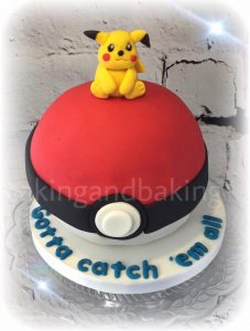 Pokemon Pokeball Pikachu Birthday Cake