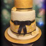 Vintage Gold Wedding Cake