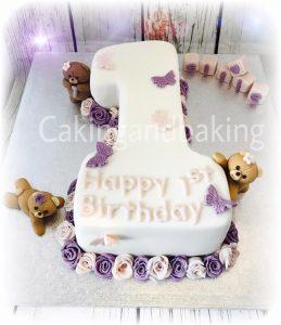 1st Birthday Number Cake