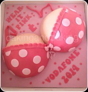 Breast Cancer Awareness Boob Cake