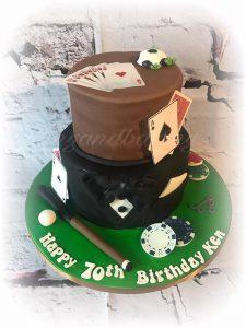 Poker & Sports Cake