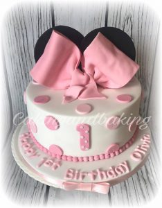 Minnie Mouse Inspired Bow Cake