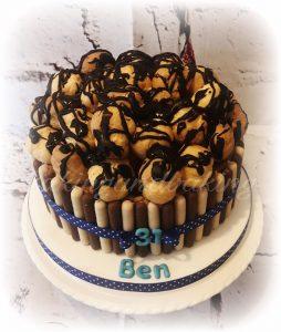 Chocolate & Salted Caramel Profiteroles Cakes