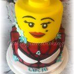Girly Lego Head & Spiderman Cake