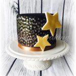 Black & Gold Star Cake