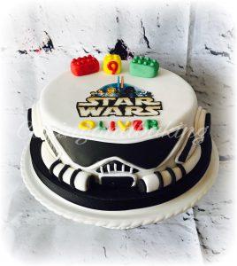 Lego Wars Storm Trooper Cake