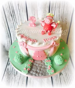 Peppa Pig Fairy Castle Cake