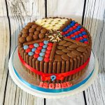 Red and Blue Chocolate Cake