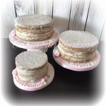 Naked Cascade Christening Cake