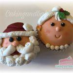 Santa & Mrs Claus Cupcakes