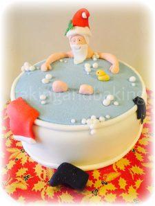 Santa Bath Cake