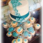 Wedding Cake Cupcake Tower - Aqua