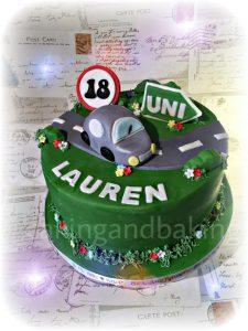 Driving Test Cake