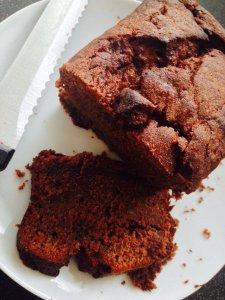 chocolate, peanut butter & banana loaf cake