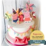Peppa Pig Pinwheel Cake